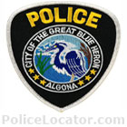 Algona Police Department Patch