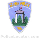 Blaine Police Department Patch