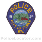 Forks Police Department Patch