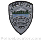 Omak Police Department Patch