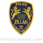 Zillah Police Department Patch