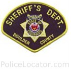Boulder County Sheriff's Office Patch