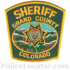 Grand County Sheriff's Department Patch