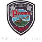 Paonia Police Department Patch