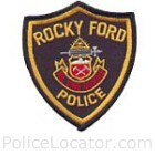 Rocky Ford Police Department Patch