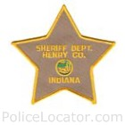 Henry County Sheriff's Department Patch
