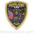 Highland Police Department Patch