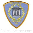 Vincennes Police Department Patch