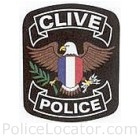 Clive Police Department Patch