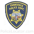 Evansdale Police Department Patch