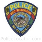 West Yellowstone Police Department Patch