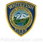 Whitefish Police Department Patch