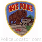 Hays Police Department Patch