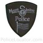 Mt. Sterling Police Department Patch