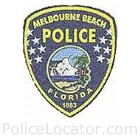 Melbourne Beach Police Department Patch