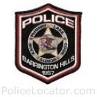 Barrington Hills Police Department Patch