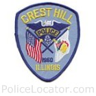 Crest Hill Police Department Patch