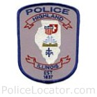 Highland Park Police Department Patch