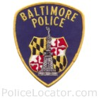 Baltimore City Police Department Patch