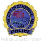 Cambridge Police Department Patch