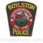 Boylston Police Department Patch