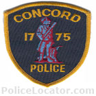 Concord Police Department Patch