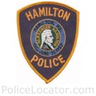 Hamilton Police Department Patch