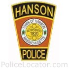 Hanson Police Department Patch