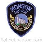 Monson Police Department Patch