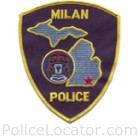 Milan Police Department Patch