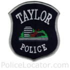 Taylor Police Department Patch