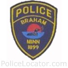 Braham Police Department Patch