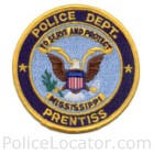 Prentiss Police Department Patch