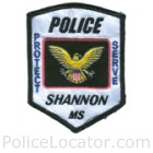 Shannon Police Department Patch