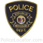 Republic Police Department Patch