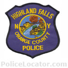 Highland Falls Police Department Patch