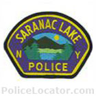 Saranac Lake Police Department Patch