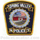 Spring Valley Police Department Patch