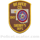 Beaver County Sheriff's Office Patch
