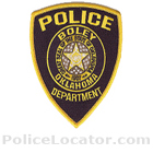 Boley Police Department Patch