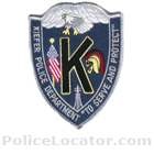 Kiefer Police Department Patch