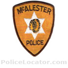 McAlester Police Department Patch