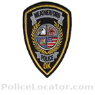 Weatherford Police Department Patch