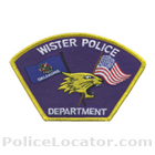 Wister Police Department Patch