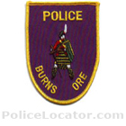 Burns Police Department Patch
