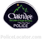 Oakridge Police Department Patch